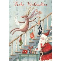 Frohe Weihnachten - Treppe - Weihnachtskarte