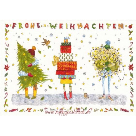 Frohe Weihnachten - Preparations - de Waard postcard