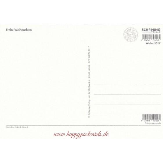 Frohe Weihnachten - Vorbereitungen - de Waard Postkarte