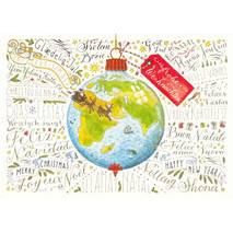 Frohe Weihnachten - Languages of the World - de Waard postcard