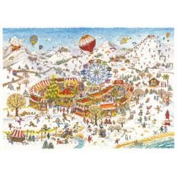 Weihnachtsmarkt- de Waard Postkarte