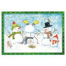 Snowmen - de Waard postcard