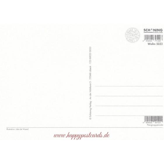 Schneemänner- de Waard Postkarte