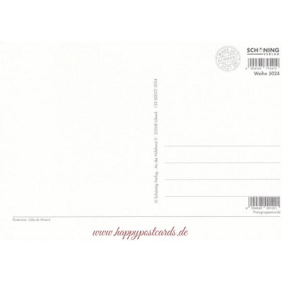 Winterpicknick- de Waard Postkarte