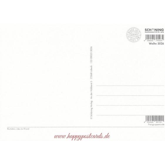 Schlittschuhfahren- de Waard Postkarte
