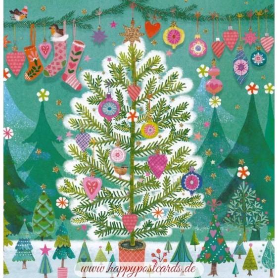 Weihnachtsbaum - Mila Marquis Postkarte
