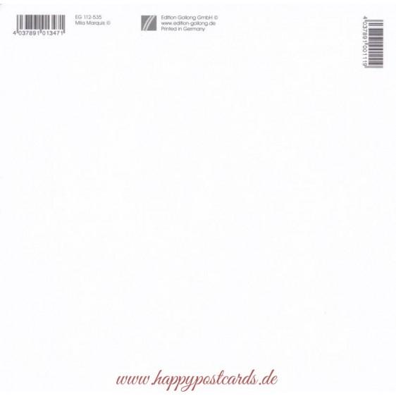 Nikolaus und Engel - Mila Marquis Postkarte