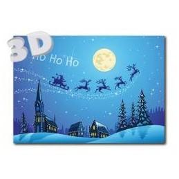 3D Ho ho ho - 3D Postkarte