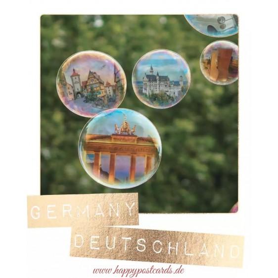 Germany - Soap bubbles - German Memories Postcard