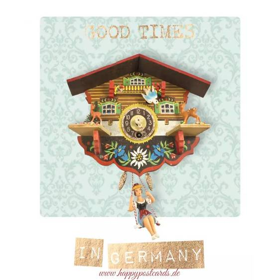 Good Times in Germany - German Memories Postcard