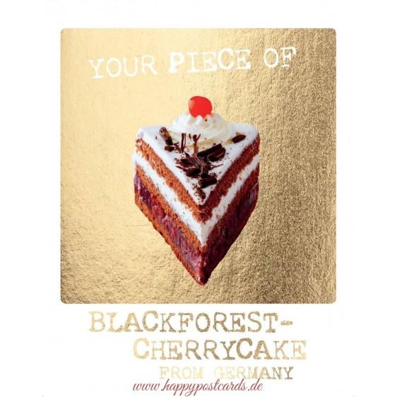 Blackforest Cherrycake - German Memories Postcard