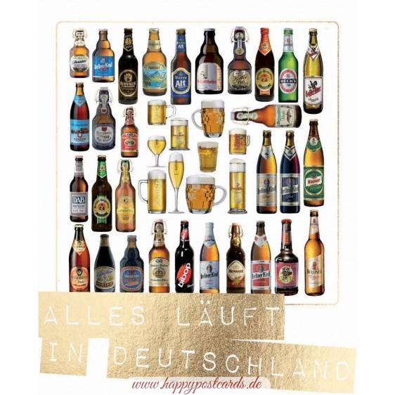 Alles läuft in Deutschland - German Memories - Postkarte