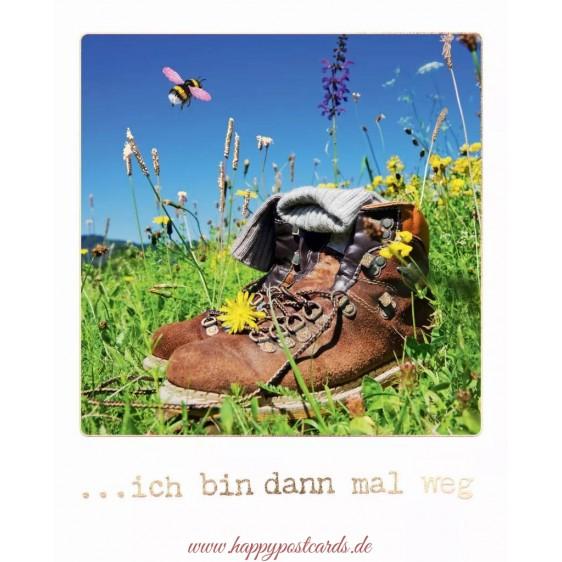 ... ich bin dann mal weg - Travel Memories - Postkarte