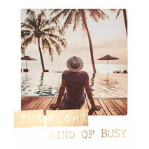 The right kind of busy - Travel Memories - Postkarte