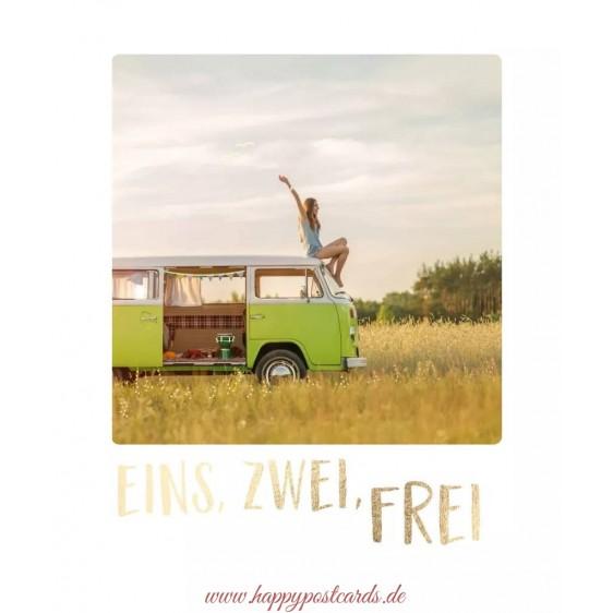 Eins, zwei, frei - Travel Memories Postcard