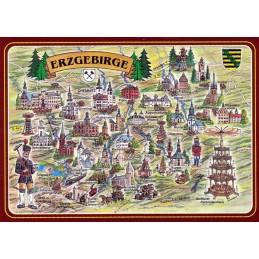 Erzgebirge - Map - Postcard