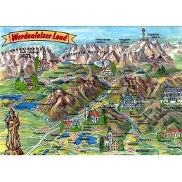 Werdenfelser Land - Map - Postkarte