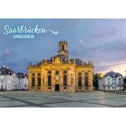 Saarbrücken - Ludwigskirche - Ansichtskarte