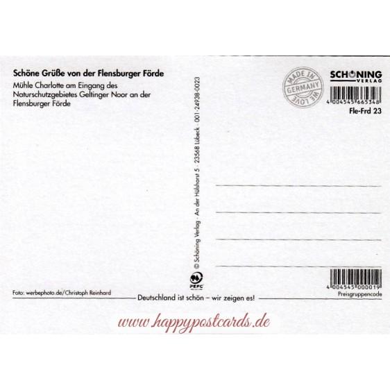 Flensburg Firth - Mill Charlotte - Viewcard