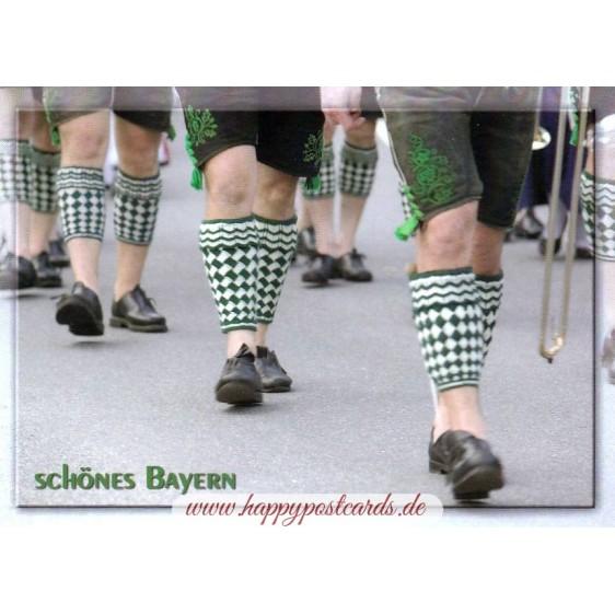 Bayern Wadenstrümpfe - Ansichtskarte