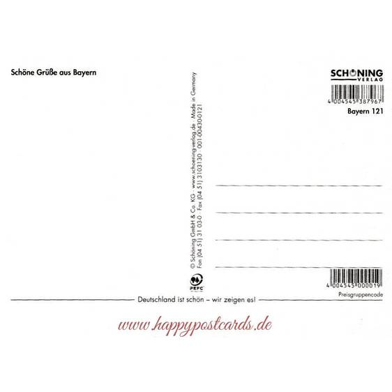 Bavaria Half Stockings - Viewcard