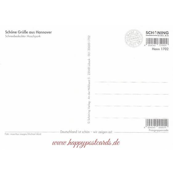 Hannover - Maschpark - Postcard