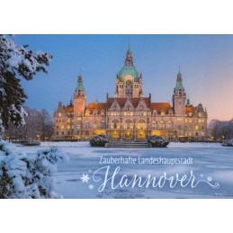 Hannover - Winterliches Rathaus - Postkarte