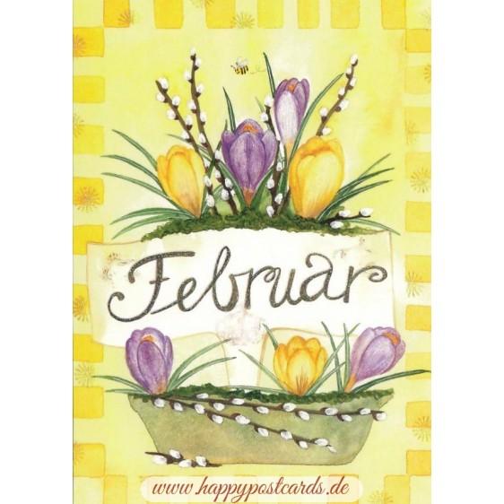 Februar - Crocuses - Monthly Postcard