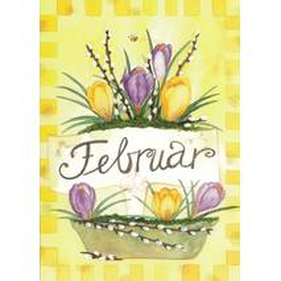 Februar - Krokusse - Monats-Postkarte