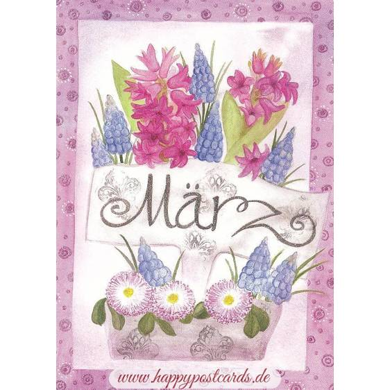März - Hyazinthen - Monats-Postkarte