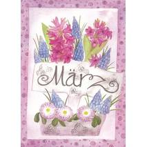 März - Hyacinth - Monthly Postcard