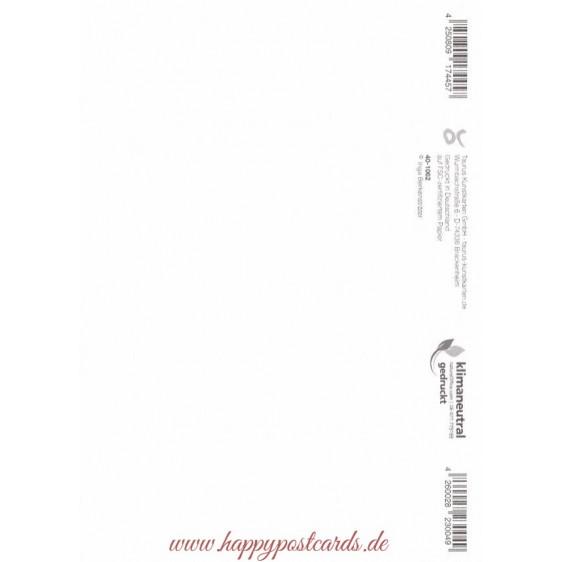 Januar - Amaryllis - Monats-Postkarte