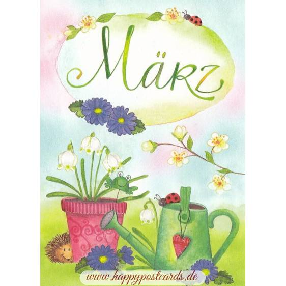 März - Spring Snowflake - Monthly Postcard