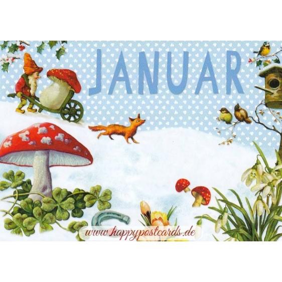 Januar - Carola Pabst - Monthly Postcard