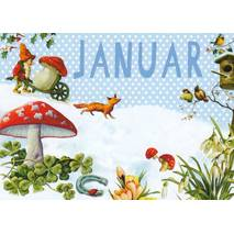 Januar - Carola Pabst - Monats-Postkarte