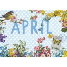 April - Carola Pabst - Monats-Postkarte