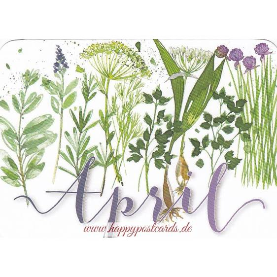 April - Kerstin Heß - Monthly Postcard