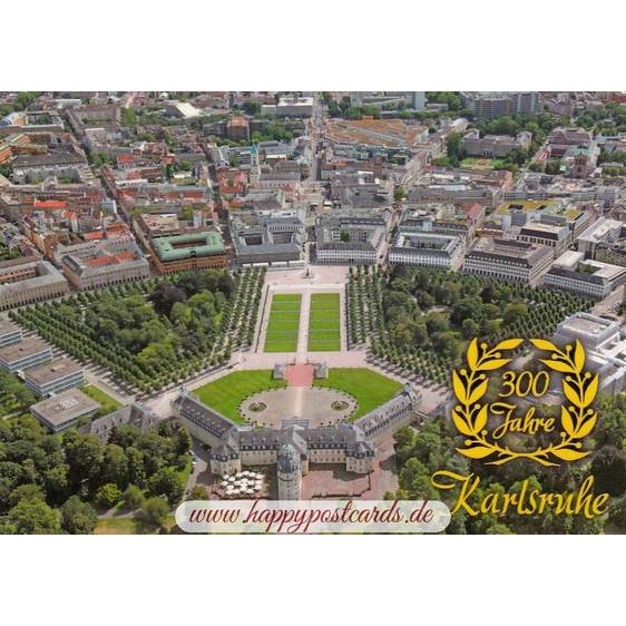 300 years Karlsruhe - Viewcard
