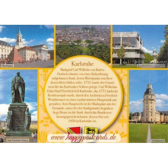 Karlsruhe - Yellow Chronicle - Viewcard