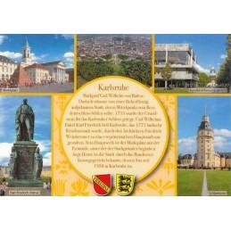 Karlsruhe - gelbe Chronikkarte