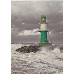 Warnemünde - Leuchtturm Molenfeuer West - Ansichtskarte