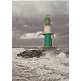 Warnemünde - Lighthouse Molenfeuer West - Viewcard