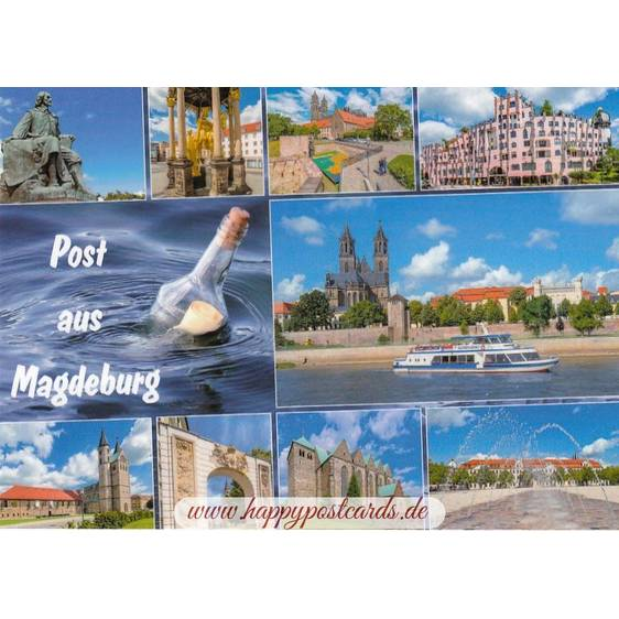 Message in a Bottle from Magdeburg - Viewcard