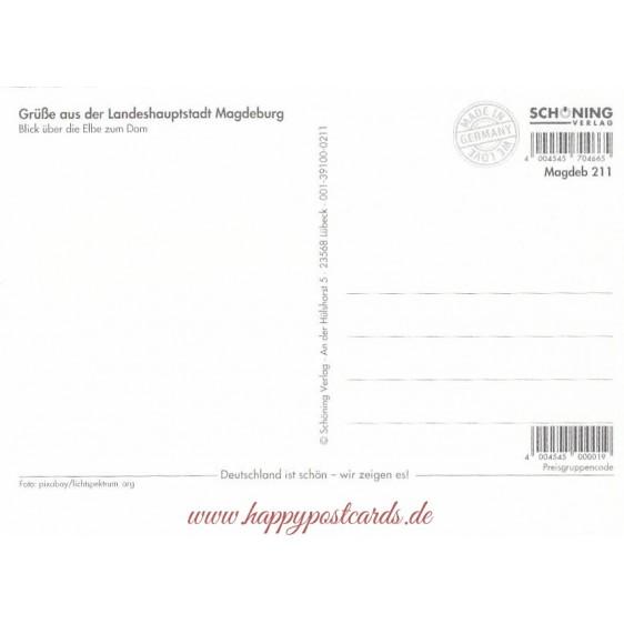 Magdeburg Elbe - Viewcard