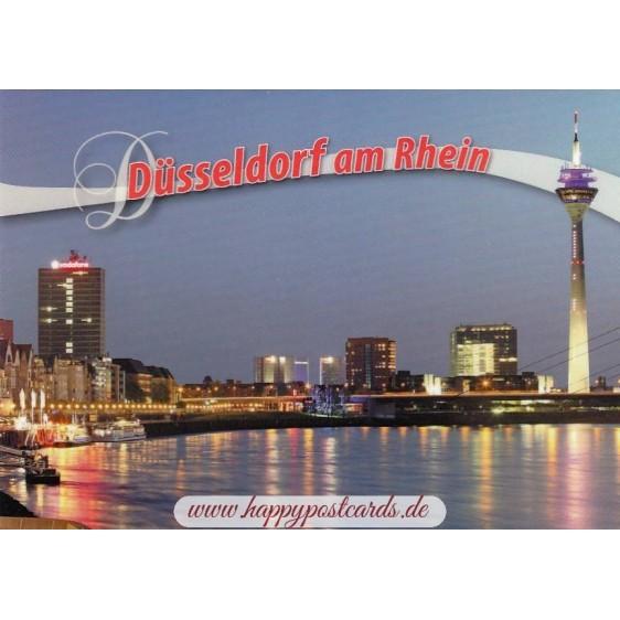 Düsseldorf - Rheinturm - Ansichtskarte