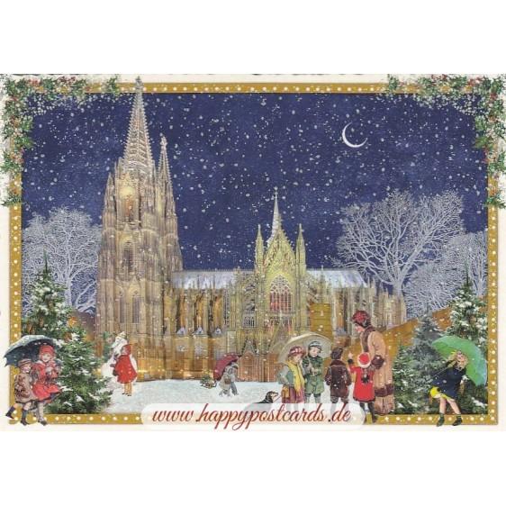 Köln - Winter - Tausendschön - Weihnachtskarte