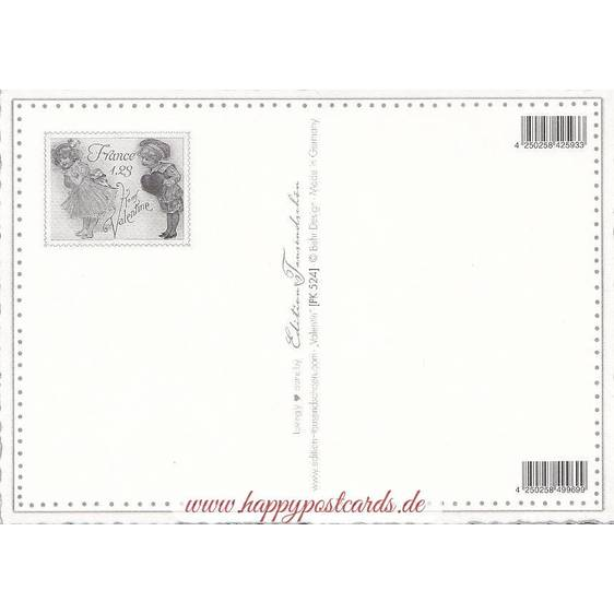 Valentine Greetings - Hearts - Tausendschön - Postcard