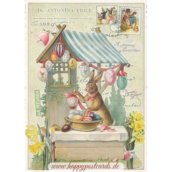 Bunny with Easterbasket - Tausendschön - Postcard