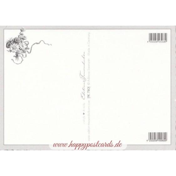 Easterbunny with Flowers - Tausendschön - Postcard