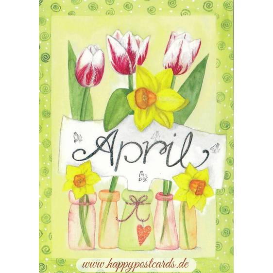 April - Tulips - Monthly Postcard